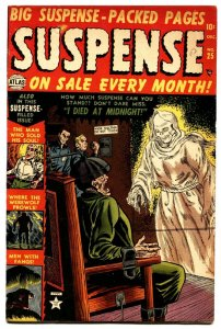 Suspense #25 1953- Atlas Horror- wild ELECTRIC CHAIR cover Golden age comic