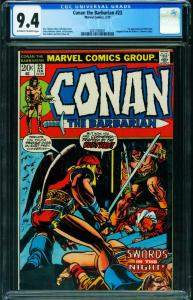 CONAN THE BARBARIAN #23 CGC 9.4 1973 First RED SONJA 2021160001