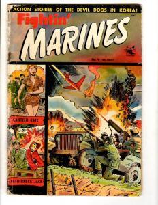 Fightin' Marines # 9 VG St. John Golden Age Comic Book Canteen Kate M Baker JL11