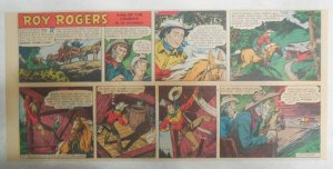 Roy Rogers Sunday Page by Al McKimson from 7/26/1953 Size 7.5 x 15 inches