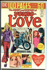YOUNG LOVE #110-DC ROMANCE-100 PAGE GIANT-BIKER GANG FN+