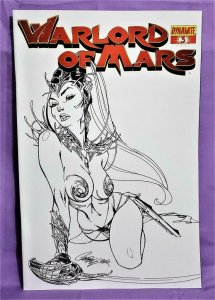 Arvid Nelson WARLORD OF MARS #3 J Scott Campbell Sketch Cover (Dynamite, 2010)!