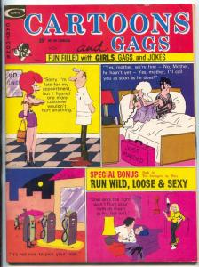 Cartoons and Gags 11/1973-Marvel-Pussycat comic strip-jokes-VF-