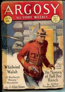 Argosy All-Story Weekly-1/26/1929-Munsey-RCMP cover & story-J.Allan Dunn-Hulb...