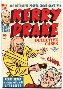 Kerry Drake Detective Cases #6 1948- Stiches- Lady Crime VF