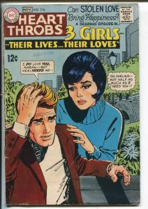 Heart Throb #116 1968-DC-3 Girls series-fashion panels-VG MINUUS