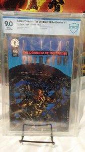 Aliens / Predator - Deadliest of Species #1 PLATINUM - CBCS 9.0