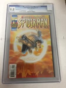 Peter Parker Spider-man 1 Sunburst Variant Cgc 9.8 White Pages