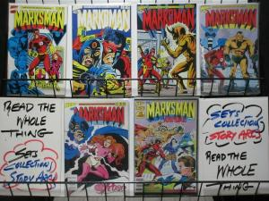 MARKSMAN 1-5,ANNUAL 1 complete CHAMPIONS spinoff!