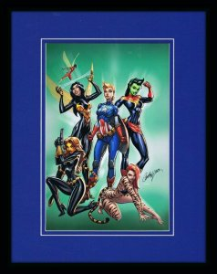 Mighty Avengers #2 11x14 Framed Poster Display Marvel J Scott Campbell GGA