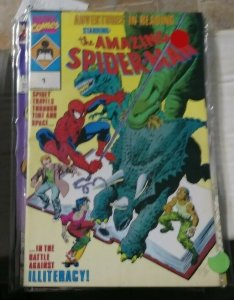 amazing spiderman adventures in reading #1 1990 marvel