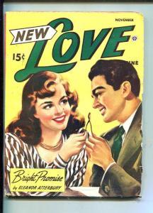 NEW LOVE-NOV 1947-ROMANTIC PULP FICTION- PIN-UP GIRL COVERWISHBONE-good