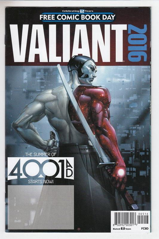 Valiant Summer of 4001AD Unstamped NM- FCBD 2016