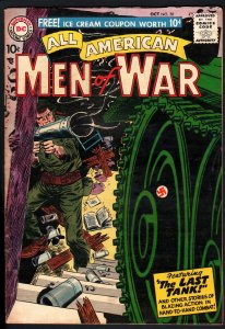 ALL AMERICAN MEN OF WAR #50-1957-WWII-DC-SILVER AGE-HIGH GRADE