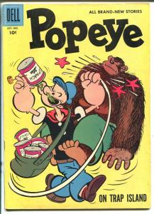 Popeye #42-1957-Dell-On Trap Island-VG/FN
