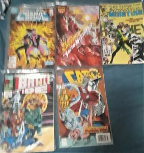 5 MIXED COMICBOOKS-CABLE/BATTLETIDE/COSMICBOY/TEAMSUPERPOWERS/STRIKEFORCE-80/90s