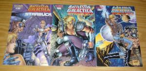Battlestar Galactica: Starbuck #1-3 VF/NM complete series ROB LIEFELD set 2 lot