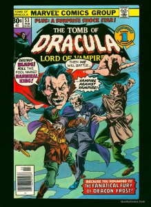 Tomb Of Dracula #53 NM 9.4 White Pages Blade! Marvel Comics