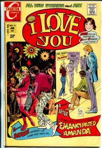 I Love You #95 1972-Charlton-Woman's Lib issue-David Cassidy pin-up poster-FN