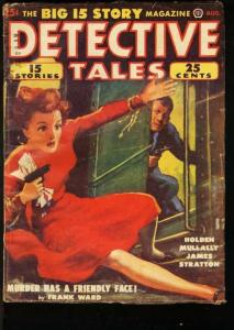 DETECTIVE TALES 1950 AUG-GGA COVER-GREAT ISSUE VG