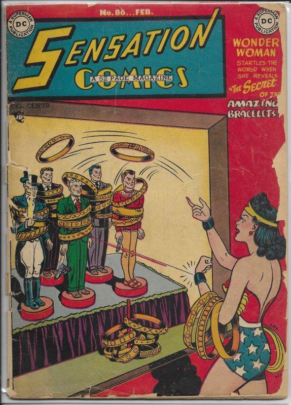 Sensation Comics   vol. 1   # 86 FR Wonder Woman, Wildcat, Atom