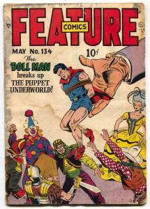 Feature Comics #134 1948- DOLL MAN- Golden Age P/FR