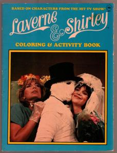 Laverne & Shirley Coloring Book #405-4 1983-Penny Marshall-Cindy Williams-TV-FN