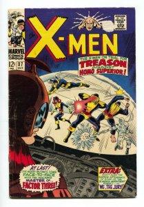 X-MEN #37 comic book 1967-MARVEL COMICS Cyclops VG-
