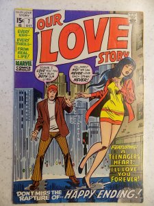 OUR LOVE STORY # 7 MARVEL ROMANCE GIRL SWEETHEARTS BUSCEMA AYERS