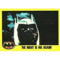1989 Batman The Movie Series 2 Topps THE NIGHT IS HIS AGAIN #220