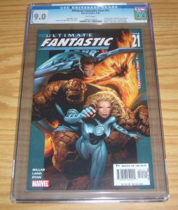 Ultimate Fantastic Four #21 CGC 9.0 mark millar - 1st appearance marvel zombies