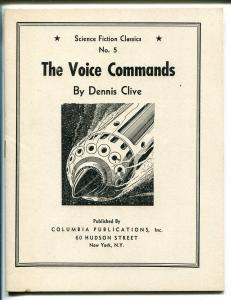 Science Fiction Classics #5 1930's-giveaway pulp-The Voice Commands-VF