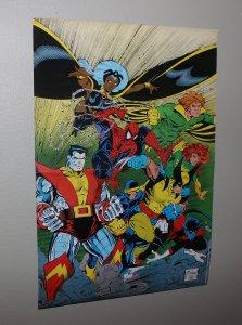 Todd McFarlane  Spiderman/X-Men Pin Up Promo Poster / 1990