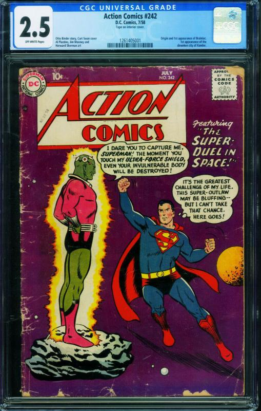 ACTION #242 CGC 2.5  First BRANIAC-Silver-Age 1261405001