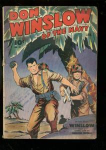 DON WINSLOW OF THE NAVY #22 1945-FAWCETT-WW II BATTLES FR/G