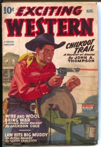 Exciting Western 12/1944-Thrilling- Alamo Paige of Pony Express-Navajo Raine-...