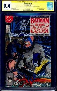 Batman #420 CGC SS signed x2 + BATMAN ORIGINAL SKETCH by Mike Zeck DeCarlo
