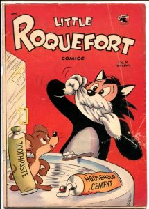 Little Roquefort #9 1953-St John-wacky funny animals-final issue-VG