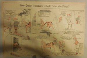 Duke The Shetland Pony Sunday by Frank Leet from 1913 Half Page Size!