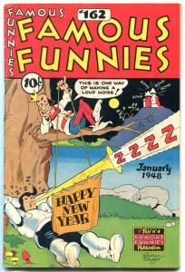 Famous Funnies #162 1948- New Year cover- Buck Rogers FN-