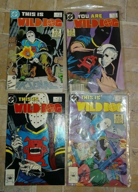 WILD DOG 1 2 3 4  1987, DC COMPLETE MINI  TV,S ARROW  CW HOT