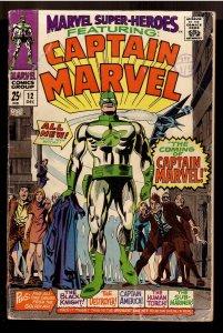MARVEL SUPER HEROES 12;VG;1st APPEARANCE CAPTAIN MARVEL