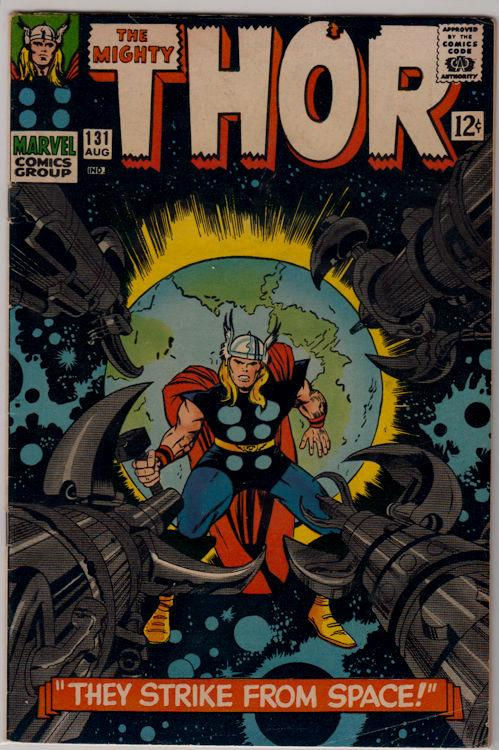 The Mighty Thor #131 (Aug 1966, Marvel) VG/Fine condition Silver Age