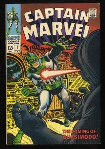 Captain Marvel #7 FN/VF 7.0 Comic