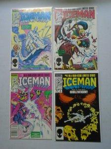 Iceman set #1-4 6.0 FN (1984 1st Mini-Series)