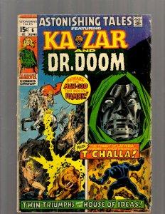 Astonishing Tales # 6 FN- Marvel Comic Book Mockingbird Blackbird Dr. Doom J450