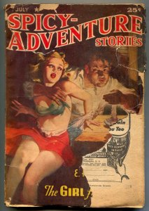 Spicy Adventure Stories July 1942- Hoffman Price- Lurid cover