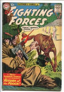 OUR FIGHTING FORCES #58-1959-DC-SILVER AGE-RETURN OF POOCH-GUNNER & SARGE-vg+