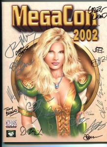 Mega Con Program Book 2002-autographed-Greg Land-Bart Sears-Geraci-Beard-NM