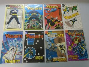 Vigilante comic lot from #1-49 +2 annuals 47 different average 8.5 VF+ (1983-88)